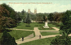 Wade Hampton Monument And Trinity Church