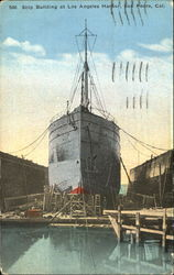 Ship Building At Los Angeles Harbor
