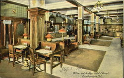 Office And Lobby Hotel Stewart Postcard