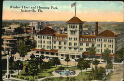 Windsor Hotel And Hemming Park Postcard