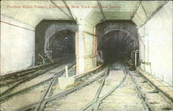 Hudson River Tunnel Connecting New York And New Jersey