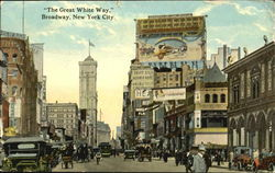 The Great White Way Broadway Postcard