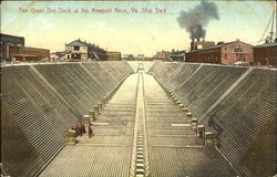 The Great Dry Dock At The Newport News Va. Ship Yard