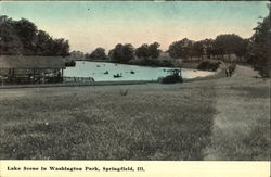 Lake Scene In Washington Park