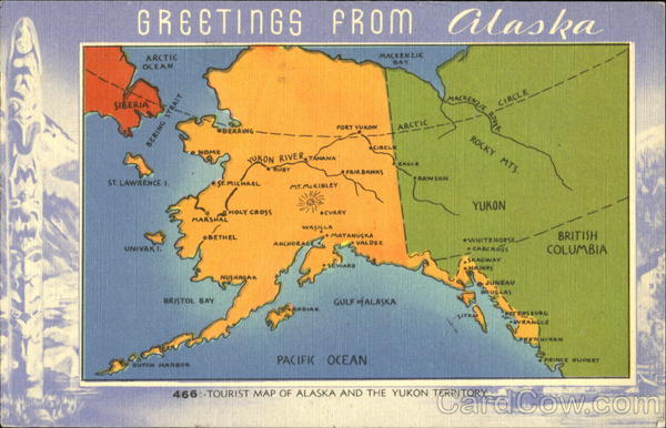 Tourist Map Of Alaska And The Yukon Territory – Alaska Tourist Map