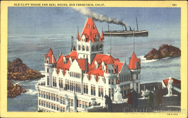 Old Cliff House And Seal Rocks San Francisco California