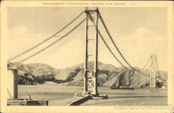 Progressive Construction Golden Gate Bridge San Francisco California