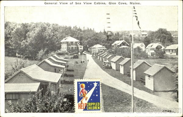 General View Of Sea View Cabins Glen Cove Maine