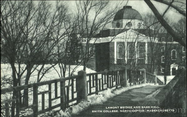 Lamont Bridge And Sage Hall, Smith College Northampton Massachusetts