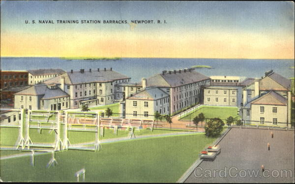 U. S. Naval Training Station Barracks Newport Rhode Island