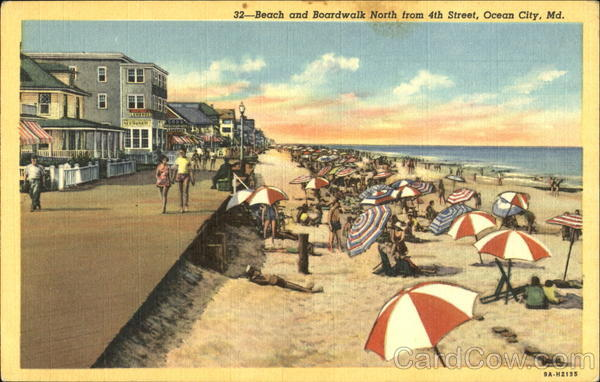 Beach And Boardwalk North, 4th Street Ocean City Maryland