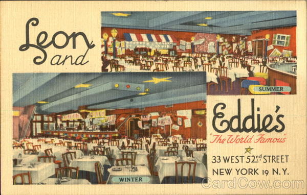 Leon & Eddie's, 33 West 52nd Street New York