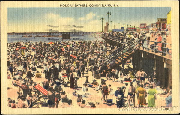 Holiday Bathers Coney Island New York