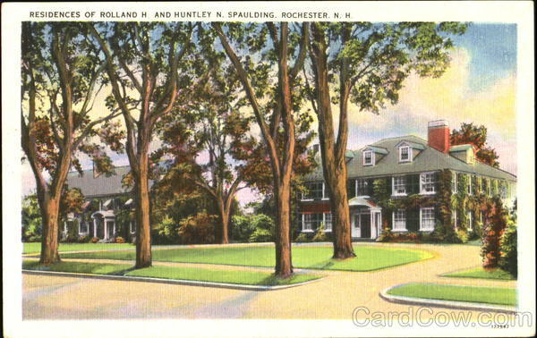 Residences Of Rolland H. And Huntley N. Spaulding Rochester New Hampshire