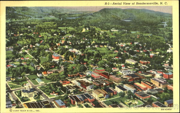 Aerial View Of Hendersonville North Carolina