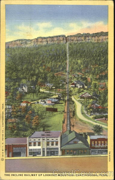 The Incline Railway Up Lookout Mountain Chattanooga Tennessee