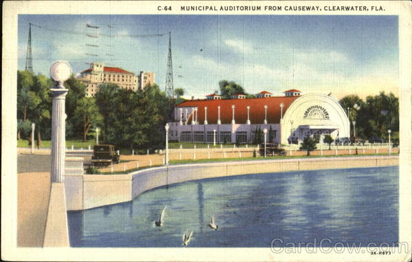 Municipal Auditorium From Causeway Clearwater Florida