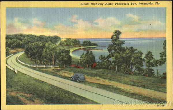 Scenic Highway Along Pensacola Bay Florida