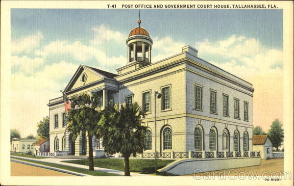 Post Office And Government Court House Tallahassee Florida