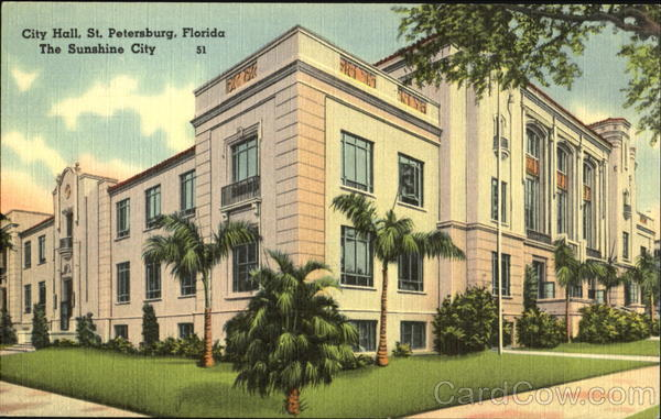 City Hall And Public Library St. Petersburg Florida