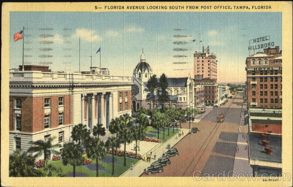 Florida Avenue Looking South From Post Office Tampa