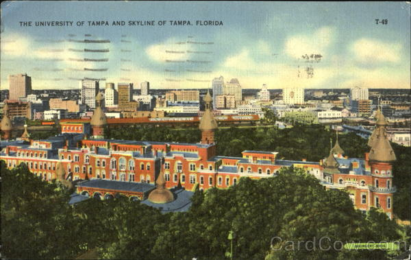 The University Of Tampa And Skyline Florida