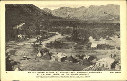 An Old Indian Village, Kluane Lake Postcard