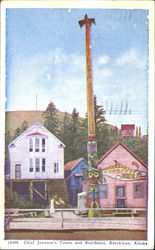 Chief Johnson's Totem And Residence