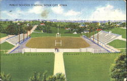 Public School Stadium Postcard