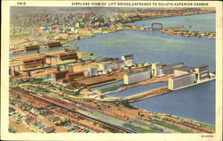 Airplane View Of Lift Bridge Entrance To Duluth-Superior Harbor