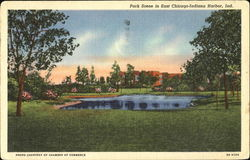 Park Scene In East Chicago-Indiana Harbor