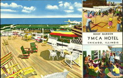 Roof Garden YMCA Hotel, 826 South Wabash Avenue Postcard