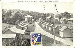 General View Of Sea View Cabins Postcard