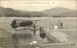 View At The Highlands, Moosehead Lake Postcard