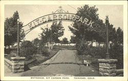 Entrance. Kit Carson Park