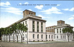 U. S. Customs House From Broadway Postcard