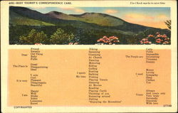 Busy Tourist's Correspondence Card
