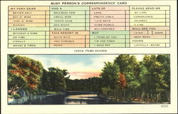 Busy Person's Correspondence Card