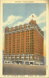 Hotel President, 14th And Baltimore Avenue Postcard