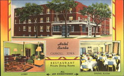 Hotel Burke, The Center Of The Corn Belt On U.S. Highways No.30 and No.70 Postcard