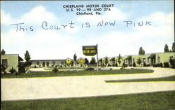 Chiefland Motor Court, U.S. 19 – 98 and 27A. Phone 2251. Modern Units