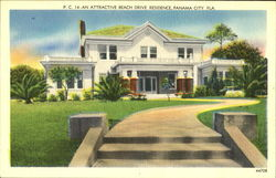 An Attractive Beach Drive Residence Postcard