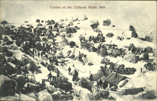 Caches On The Chilkoot Sumit 1898 Canada British Columbia