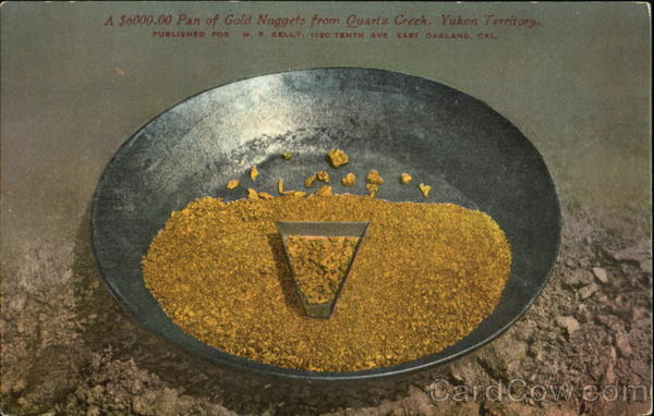 A $6000.00 Pan Of Gold Nuggets Quartz Creek Canada