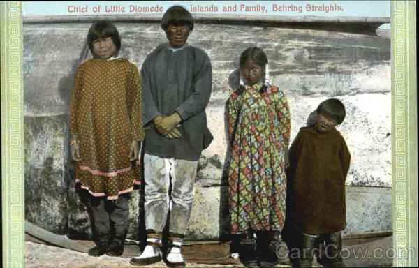 Chief Of Little Diomede Islands And Family Alaska Native Americana