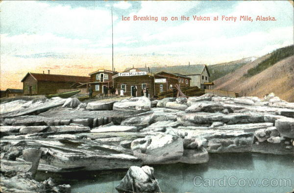 Ice Breaking Up On The Yukon At Forty Mile Alaska 1909 Alaska Yukon-Pacific Exposition