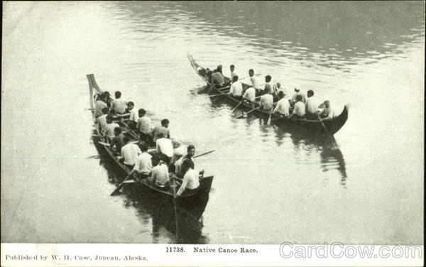 Native Canoe Race Alaska Native Americana