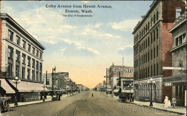 Colby Avenue From Hewitt Avenue Everett Washington
