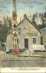 Indian House And Totem Pole