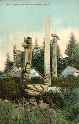 Indian Graves And Totems